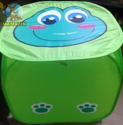 Корзина для игрушек Зеленая Лягушка / Голубая рыбка