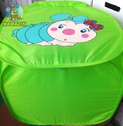 Корзина для игрушек  Зеленая Гусеница / Желтый львенок