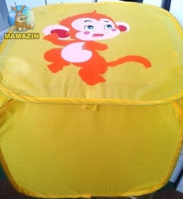 Корзина для игрушек  Желтый утенок/ Желтая обезьянка