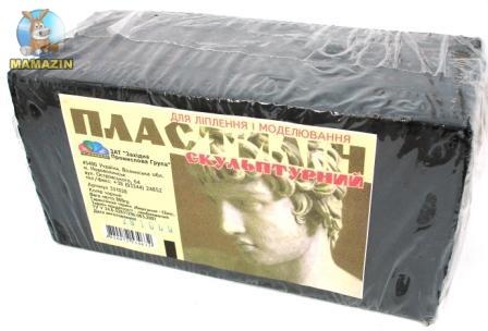 Пластилин скульптурный черный 800 г