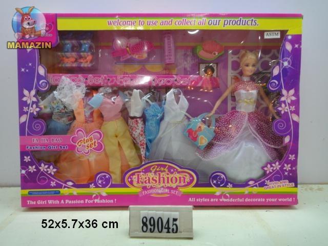 """Кукла с набором платьев """"Fajiabao"""""""