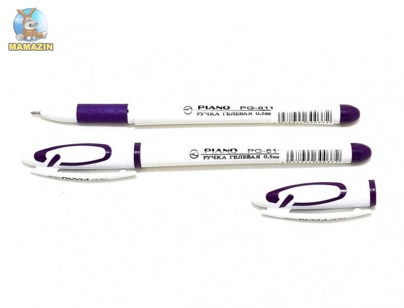 Ручка гелевая Piano фиолетовая