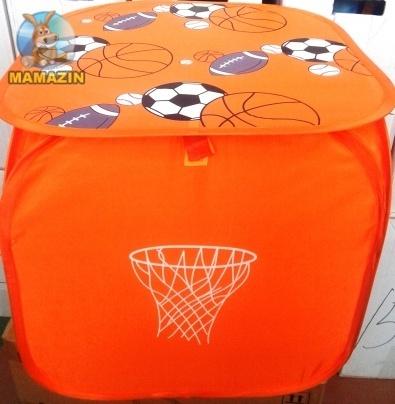 Корзина для игрушек Оранжевые мячи/Голубой Лев