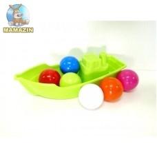 Лодочка с 6 шариками