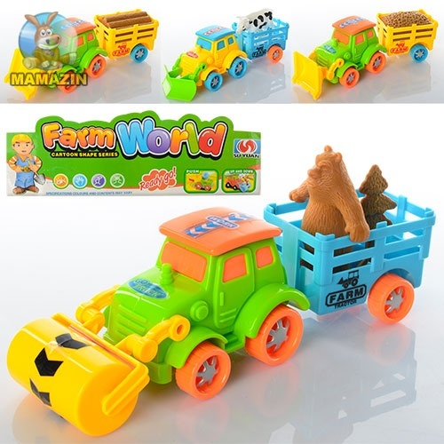 Трактор инерционный с прицепом