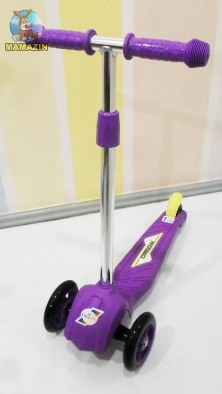 Самокат трехколесный фиолетовый