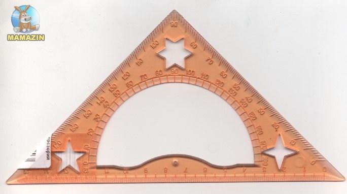 Треугольник 15 см прозрачный