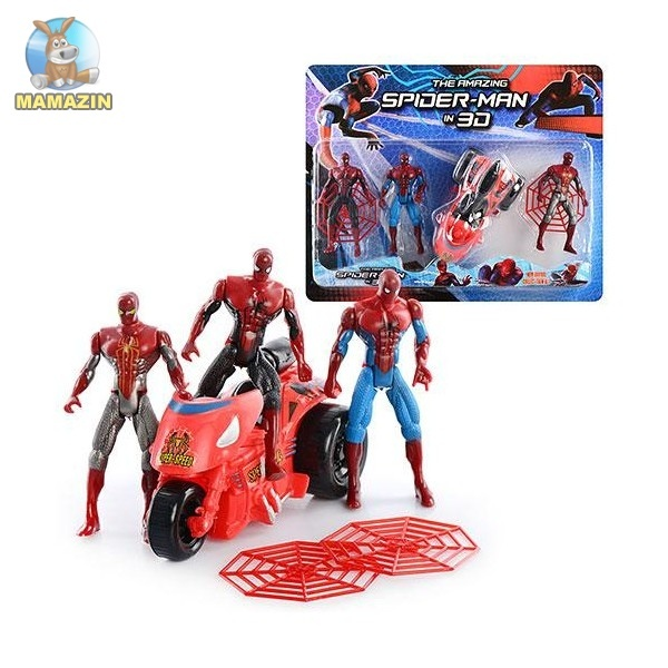 """Супергерои """"Человек паук"""" с мотоциклом"""