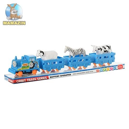 """Поезд игрушечный """"Томас"""" с животными"""