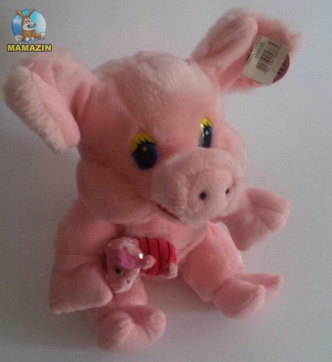 Мягкая игрушка Свинья со зверюшкой