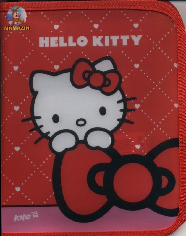 Папка на молнии  Hello Kitty
