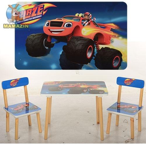 """Столик деревянный + 2 стульчика """"Вспыш"""""""
