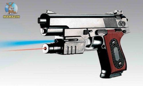 Пистолет с лазером,светом