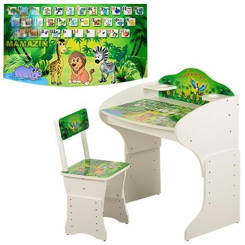 Парта детская джунгли