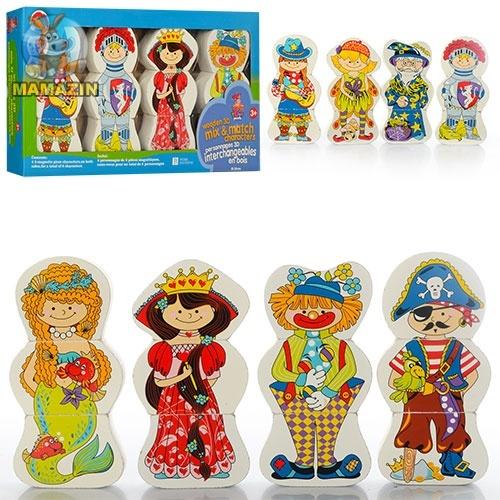"""Деревянная игрушка """"Пазлы"""" магнитные, фигурки 3D"""