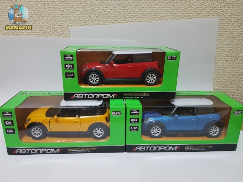 Машина металлическая Mini Cooper