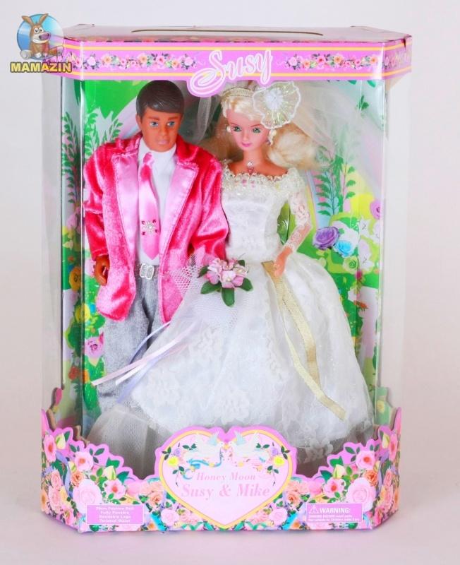 """Кукла Creation & Distribution Сюзи и Майк """"Счастливые молодожены"""""""
