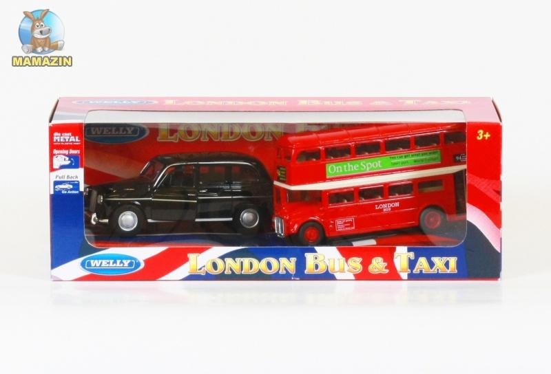 Набор машинок автобус и лондонское такси