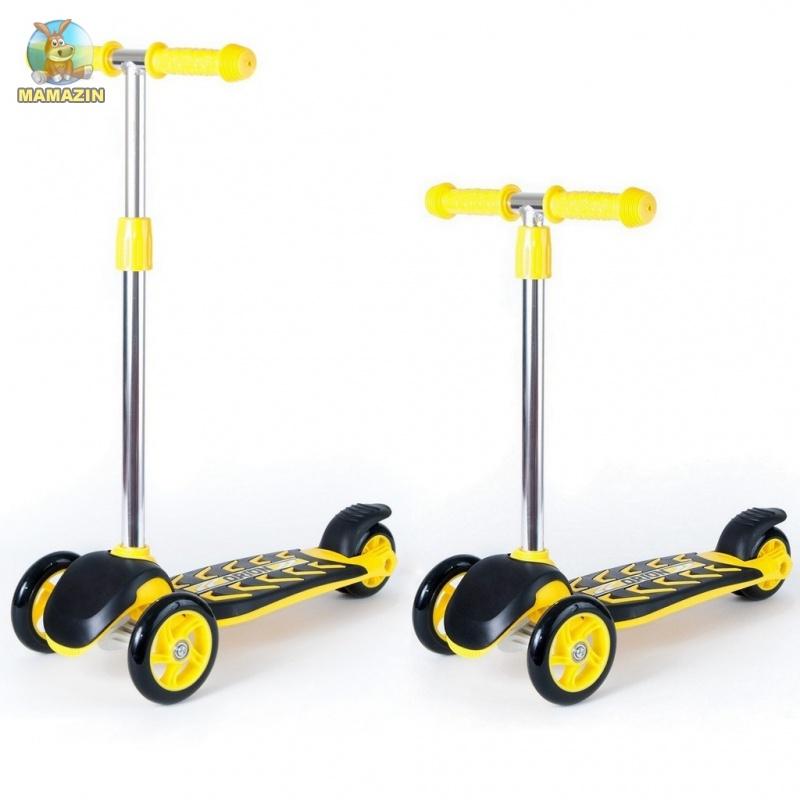 Самокат 3 колеса лимонный
