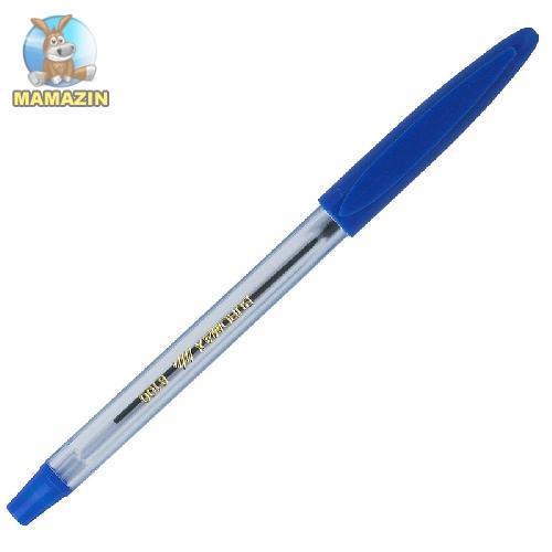 Ручка кулькова, (з гум. грипом), JOBMAX, синя - блок
