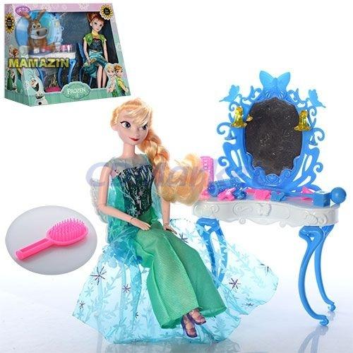 """Мебель трюмо для кукол с куклой """"Холодное сердце"""""""