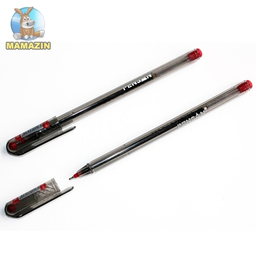 Ручка шариковая, красная MY-TECH