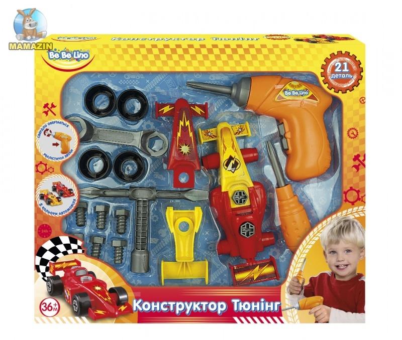 """Детский Конструктор с инструментами и электродрелью """"Тюнинг"""""""