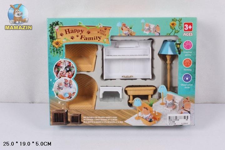 """Мебель """"Happy Family"""", гостинная с пианино"""
