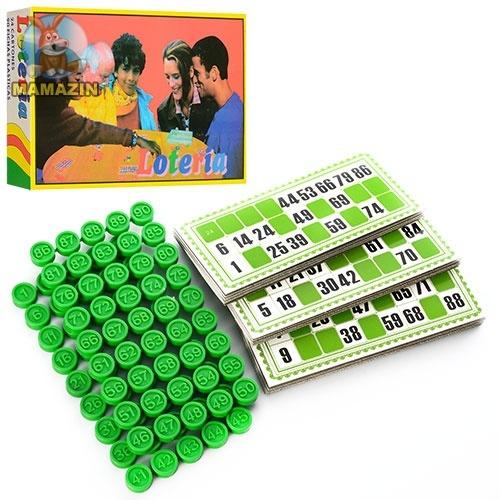 Лото карточки, фишки (пластик)