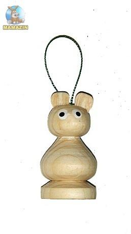 Свистулька деревянная Заяц