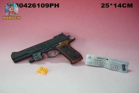 Пистолет с пульками, лазер