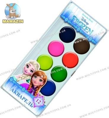 """Фарба акварельна медова """"Frozen"""" 12 кольорів"""