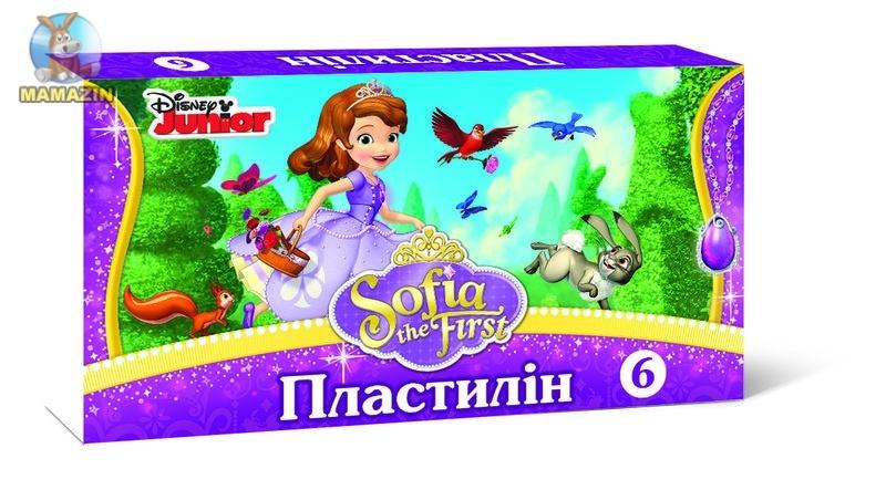 """Пластилін """"Принцеса Софія"""" 6 кольорів"""