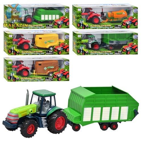 Трактор игрушечный с прицепом