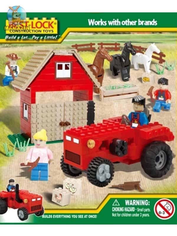 Конструктор Бест-лок Трактор и конюшня