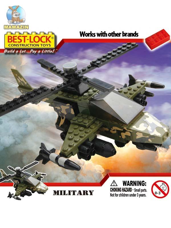 Конструктор Бест-лок военный вертолет