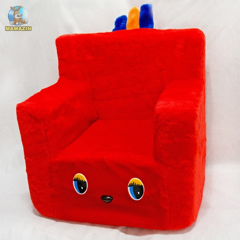 Стульчик-кресло красный