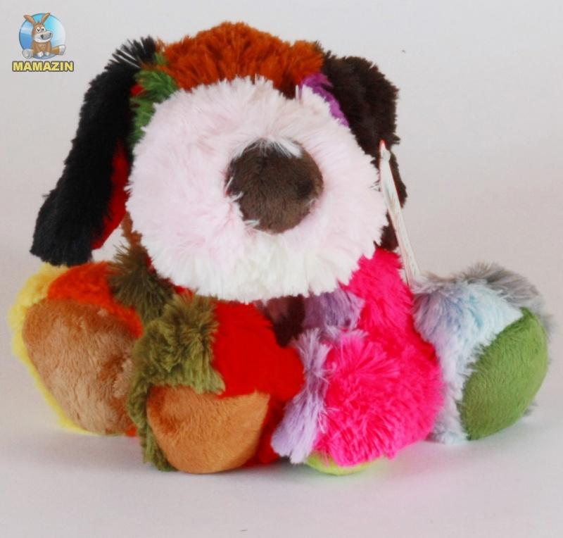 Мягкая игруша Собачка, цветная лежачая
