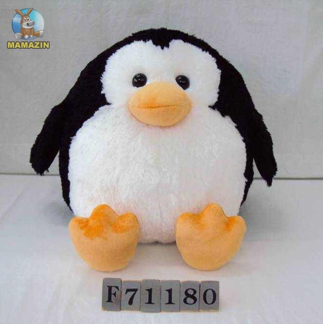 Мягкая игрушка Пингвин круглый, 32см