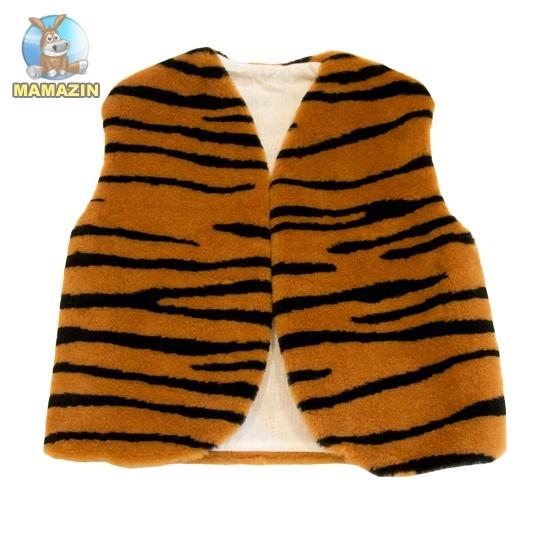 Маскарадный жилет детский, тигровый