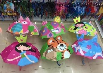 Зонт с ушками, матовая клеенка