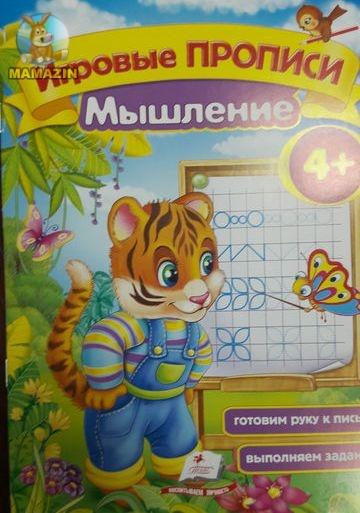Обучающая пропись: Мышление 3+  (рус)