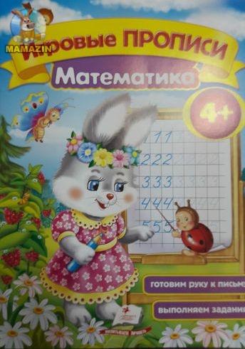 Игровая пропись: Математика 4+ (укр)