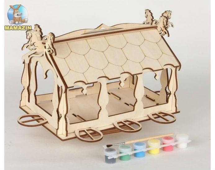 Сборная деревянная модель Конюшня + краски