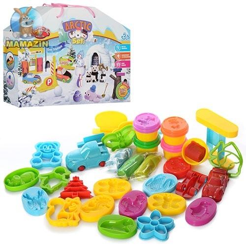 Пластилин игровой набор - животные, машинки