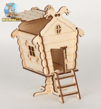 Сборная деревянная модель Дом Бабы Яги