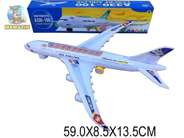 Самолет игрушечный со светом и звуком