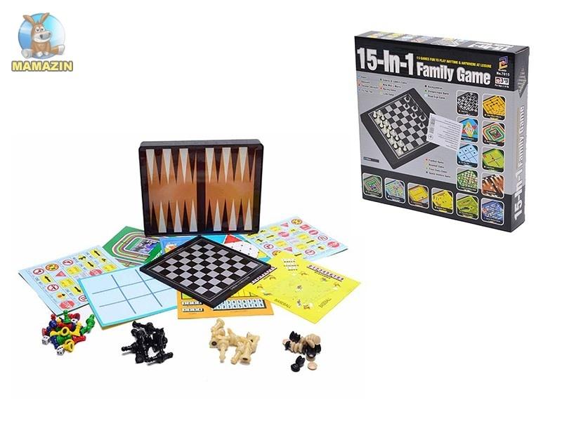 Набор шахматы магнитные 15-в-1