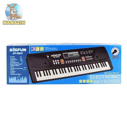 Синтезатор 61 клавиша, микрофон, USB