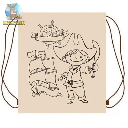 Рюкзак-разукрашка для вещей Пират
